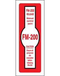 FM200 Release Manual Control Point