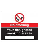 No Smoking Designated Smoking Area Is (white/black)