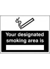 Your Designated Smoking Area Is (white/black)