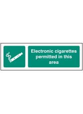 Electronic Cigarettes Permitted in this Area