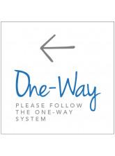 One Way - Arrow Left - Floor Graphic